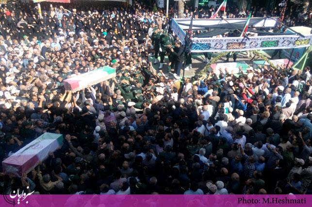 گزارش تصویری: مراسم تشییع «مهاجران الی الله» در  سبزوار –  بخش دوم