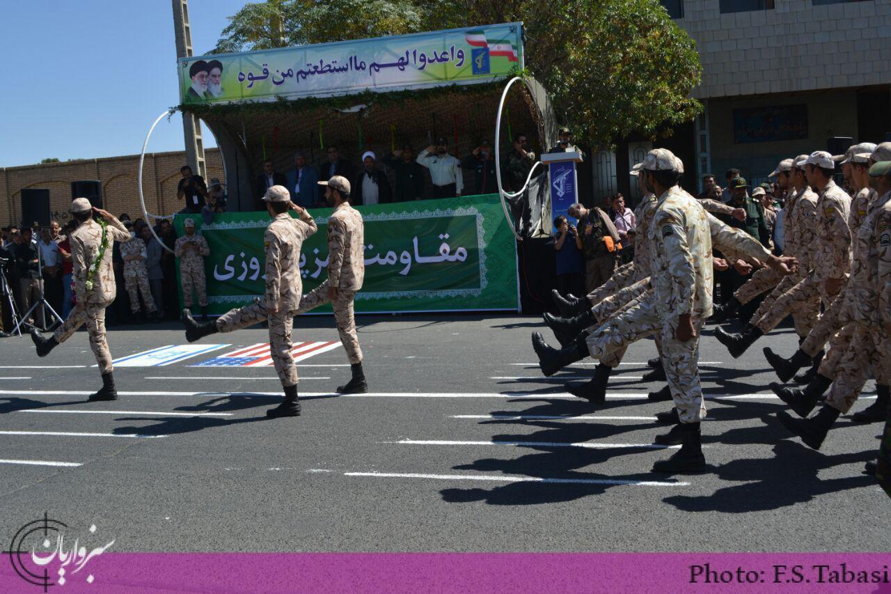 گزارش تصویری: رژه نیروهای مسلح به مناسبت آغاز هفته دفاع مقدس
