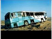 یک کشته و ۱۳ مصدوم در واژگونی اتوبوس در سبزوار