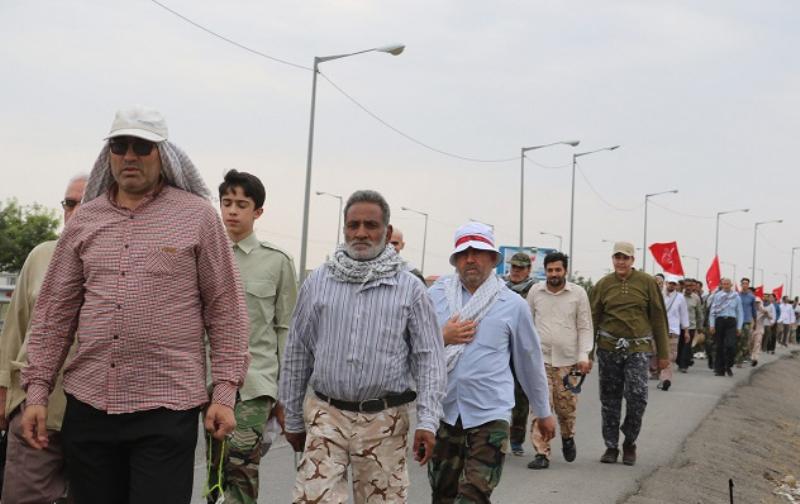 کاروانهای پیاده زائران از غرب خراسان رضوی عازم مشهد شدند