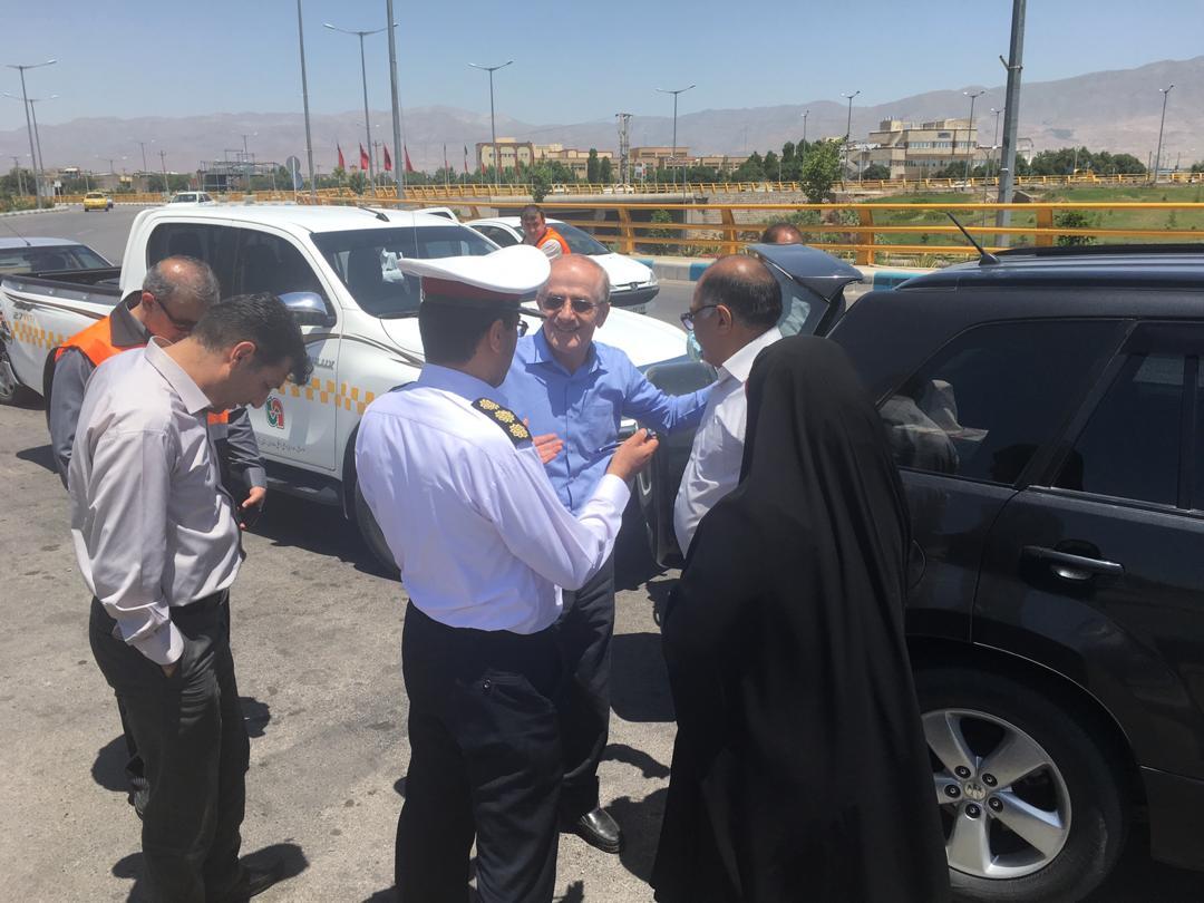 بازدید ریاست سازمان راهداری و حملونقل جادهای از محورهای شهرستان سبزوار