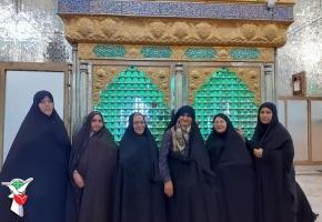 برگزاری اردوی زیارتی همسران ایثارگران سبزوار به کاشمر