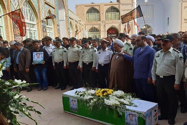 تشییع پیکر شهید نیروی انتظامی در سبزوار