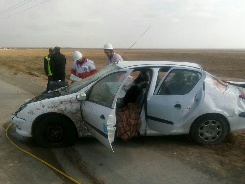 واژگونی خودروی پژو ۲۰۶ در نیشابور یک کشته بر جای گذاشت