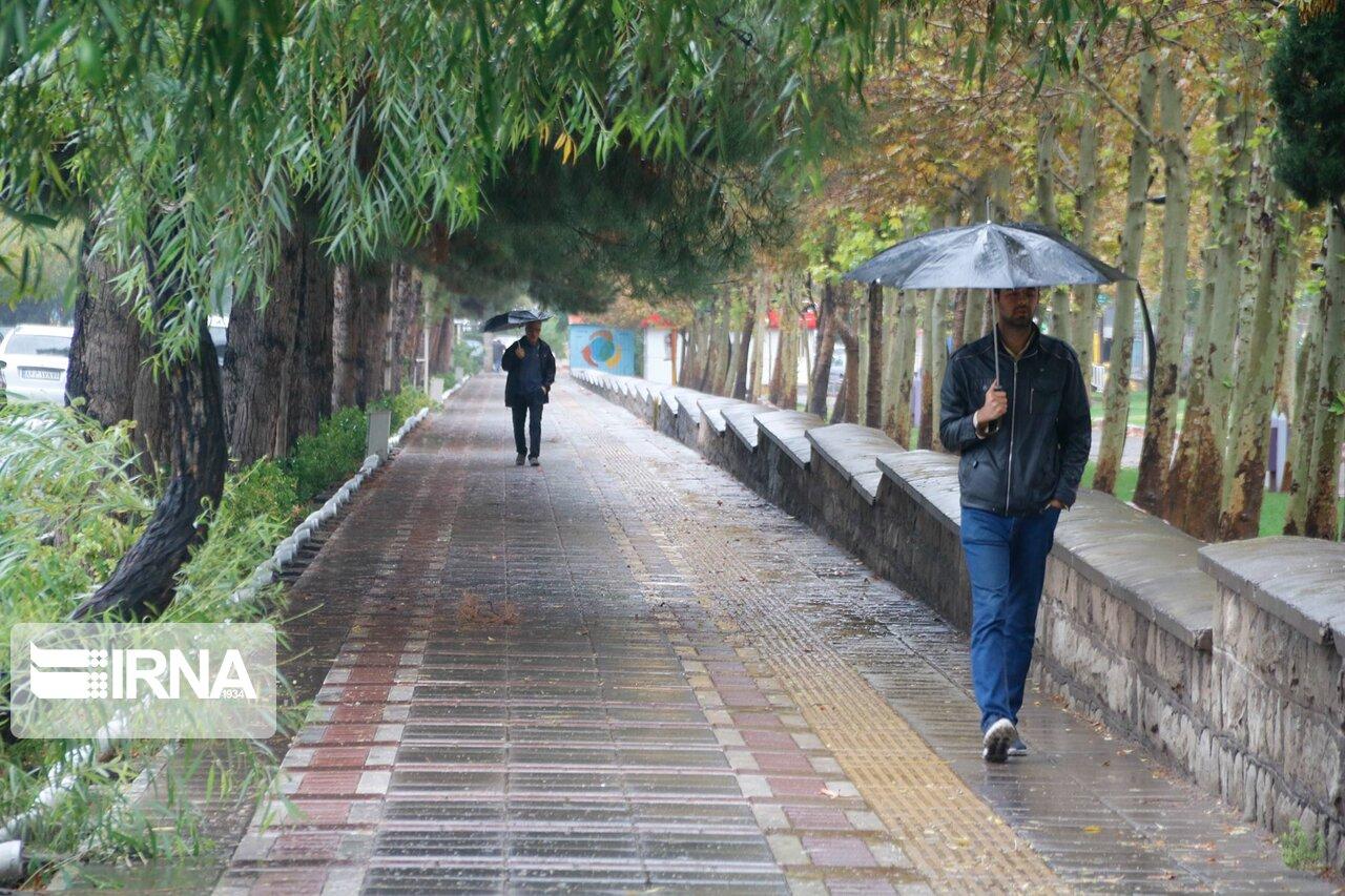 بارش باران پاییزی در سبزوار