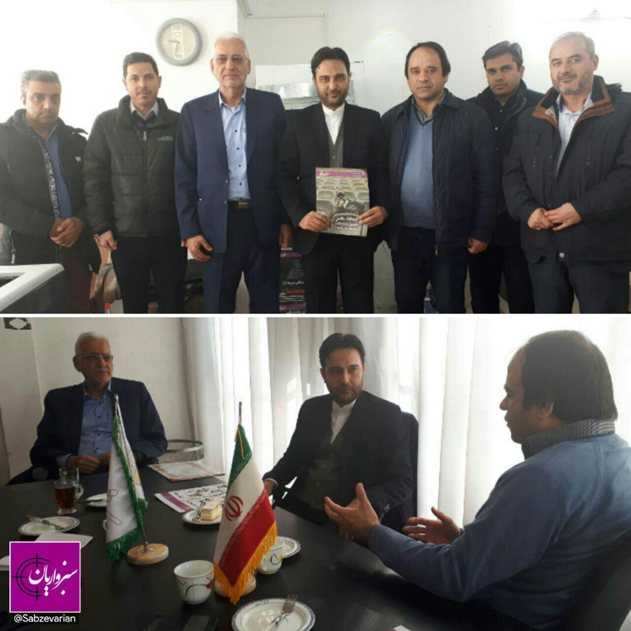 رئیس بسیج رسانه استان از دفتر ماهنامه ستاره شرق و پایگاه خبری سبزواریان بازدید کرد