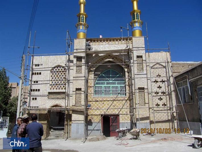 زیباسازی نمای مسجد روستای خسروجرد سبزوار