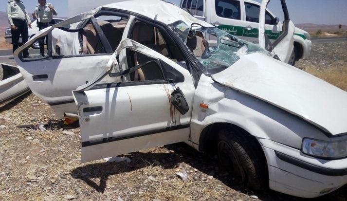 ۴ مصدوم بر اثر واژگونی خودرو سمند