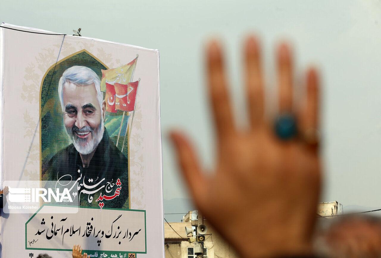نام سردار شهید سپهبد سلیمانی بر تارک بزرگراه سبزوار