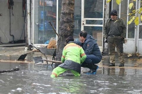 تمهیدات شهرداری سبزوار برای مقابله با آبگرفتگی معابر
